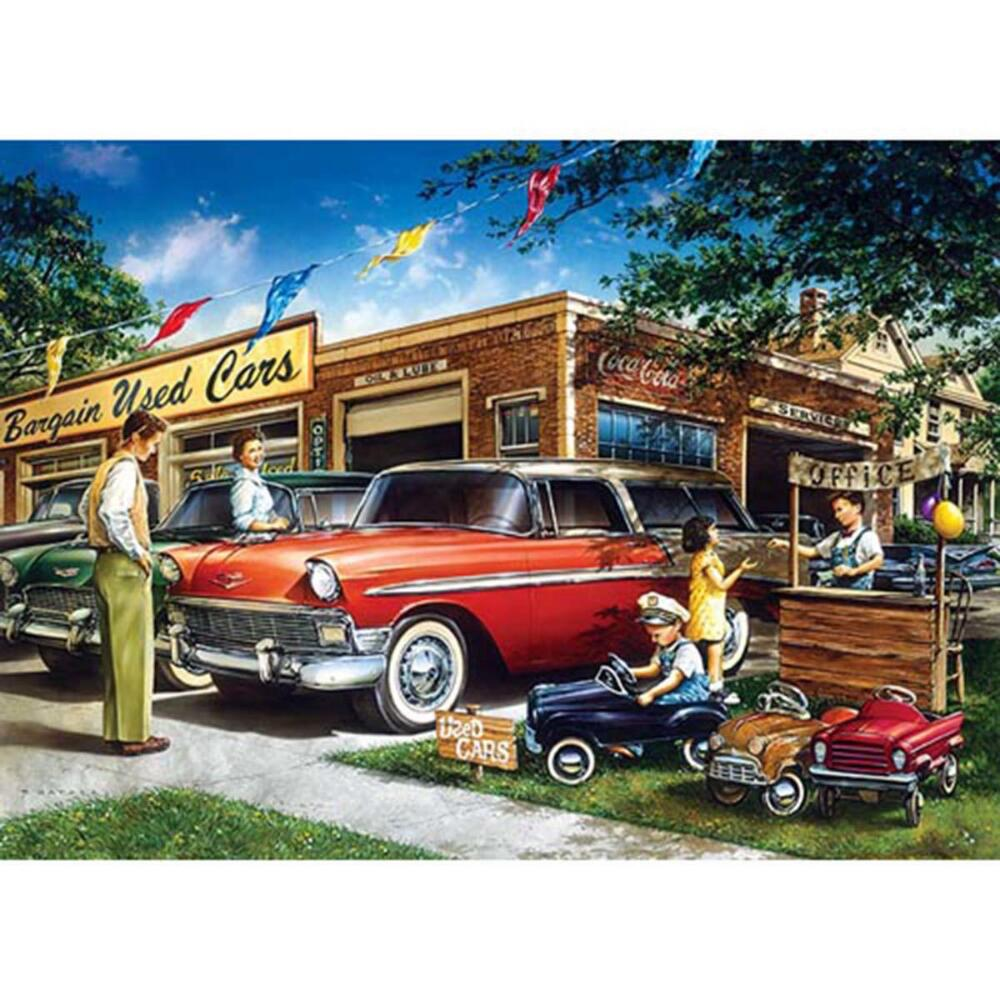 Masterpieces Puzzle Co Bargain Used Cars Jigsaw Puzzle