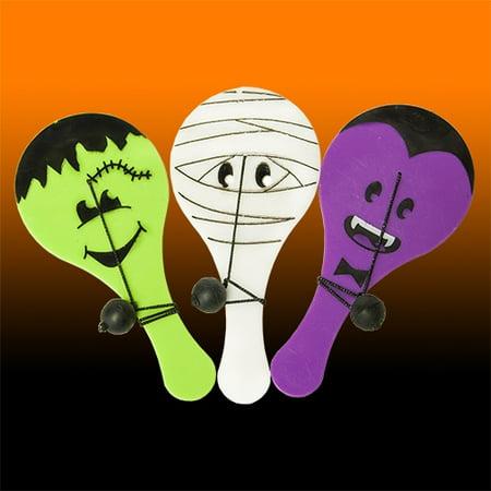 Halloween Games For Seniors (Halloween Monster Paddle Ball Game - 12 per)