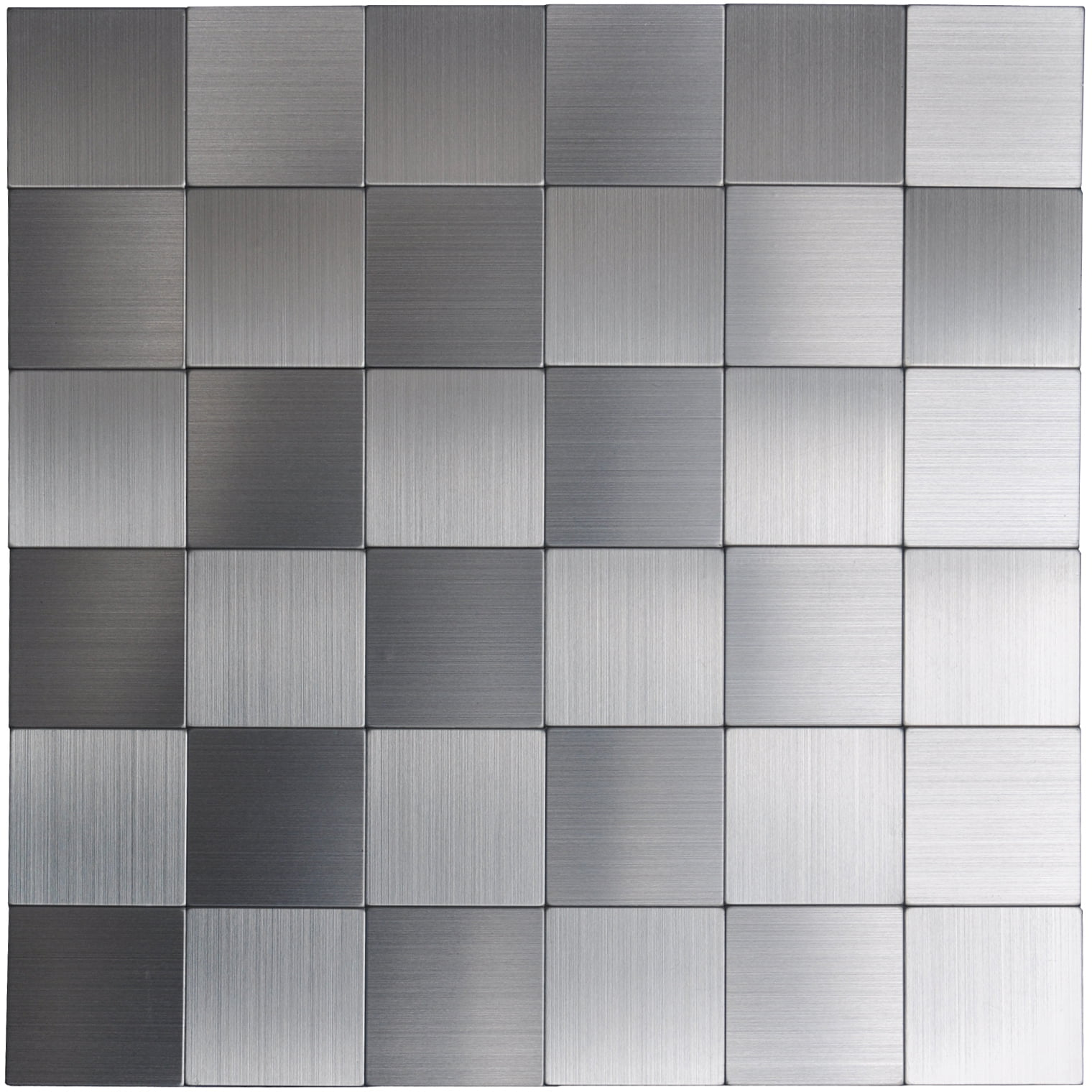 Self Adhesive Metal Tiles 10 Pcs Stainless L And Stick Backsplashes 12x12inch