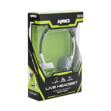 ffadd88d6ef KMD Live Chat Headset With microphone For Microsoft Xbox 360 White Small  (Gift Idea) ...