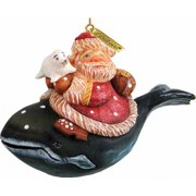 G.Debrekht 63139 General Holiday Santa On Whale Ornament 4.5 in.