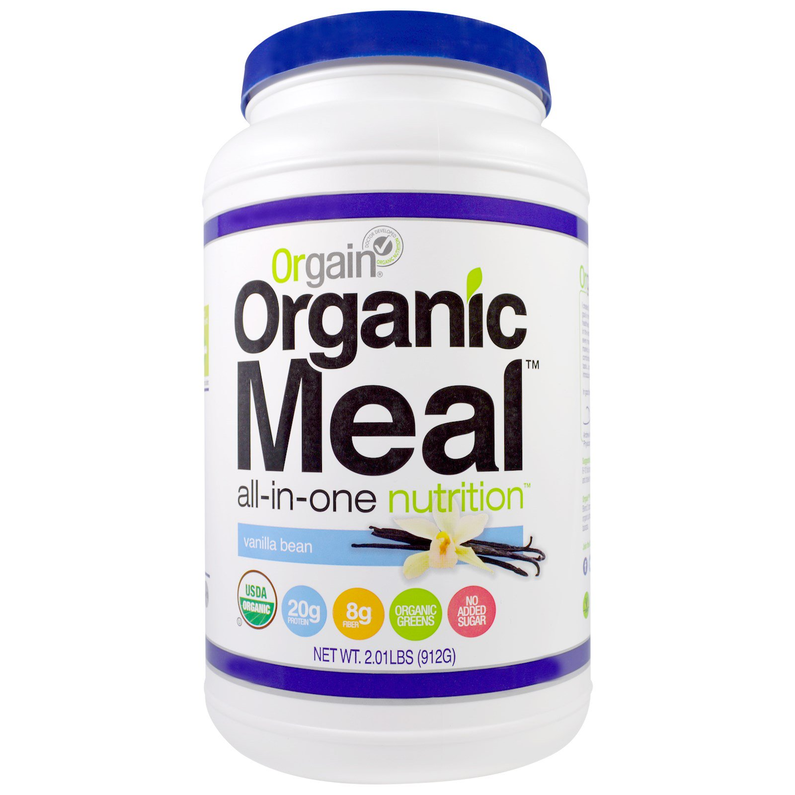 Orgain, Organic Meal, All-In-One Nutrition, Vanilla Bean, 2.01 lbs(pack of 1)