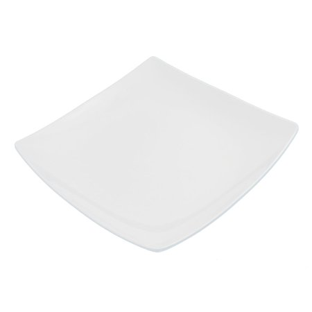 9.5 X 9.5 Square - Unique Bargains Restaurant Dinnerware Plastic Square Shaped Steak Dish Plate 9.5