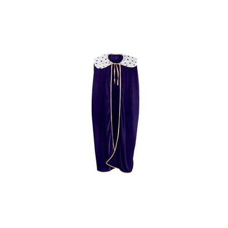 Adult King/Queen Robe (purple) Party Accessory  (1 count) (1/Pkg) - 80s Prom King And Queen Costume