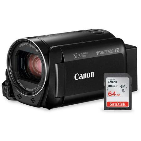 Canon Vixia HF R800 HD Camcorder (Black) Deluxe Bundle W/ 64 GB SD Card
