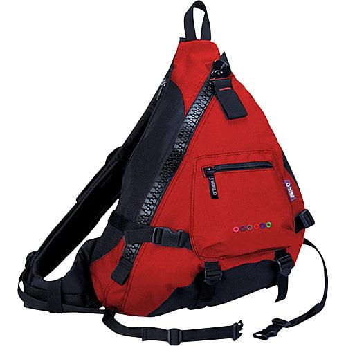 J World Big Zipper Sling Bag in Red