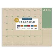 "July 2020 - June 2021 Kraft Plans Large 17""x22"" Desk Pad Monthly Calendar Blotter"
