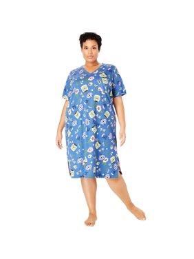 Womens Plus Nightshirts   Gowns - Walmart.com 6c1638bf7