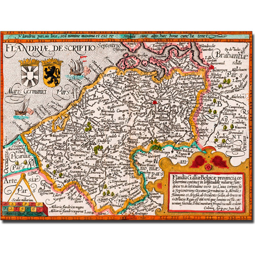 Trademark Art 'Map of Flanders' Canvas Art by Johannes Bussemacher