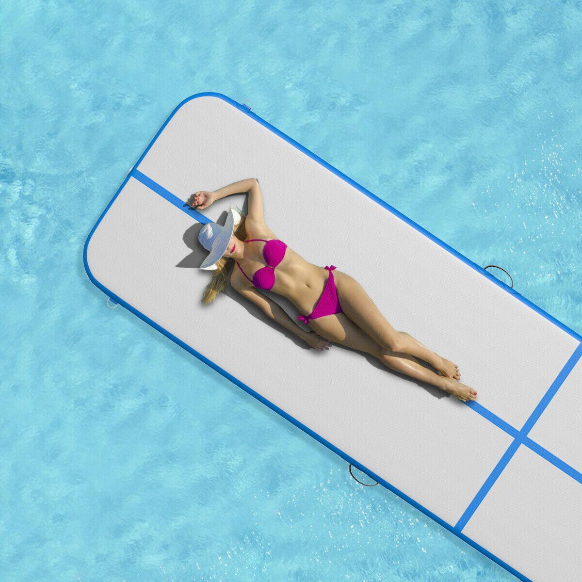 13' Inflatable Exercise Air Track Floor Mat Water Buoyancy Pump Multi-purpose - image 6 of 10