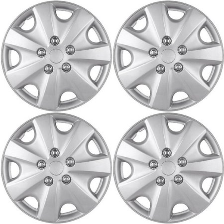 4 Piece Set A/M Silver ABS Fits 2003 2004 HONDA ACCORD 15
