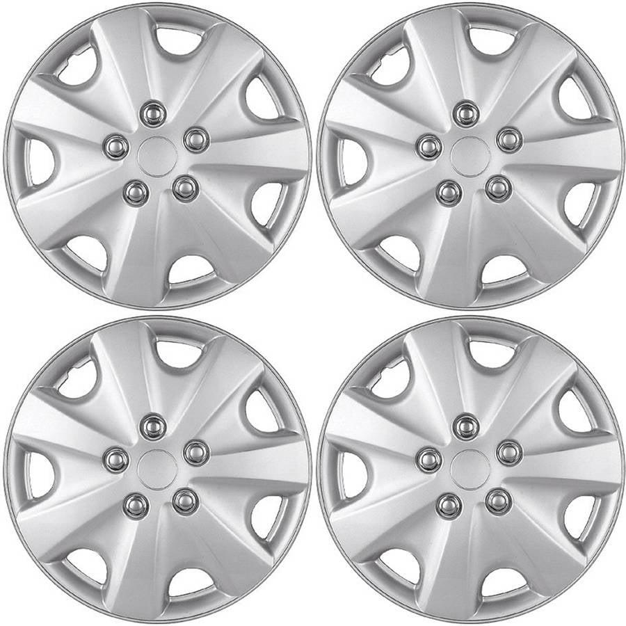 "4 Piece Set A/M Silver ABS Fits 2003 2004 HONDA ACCORD 15"" Wheel Covers Hub Caps"