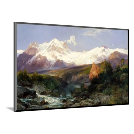 The Teton Range 1897 Wood Mounted Print Wall Art By Thomas Moran Walmart Com