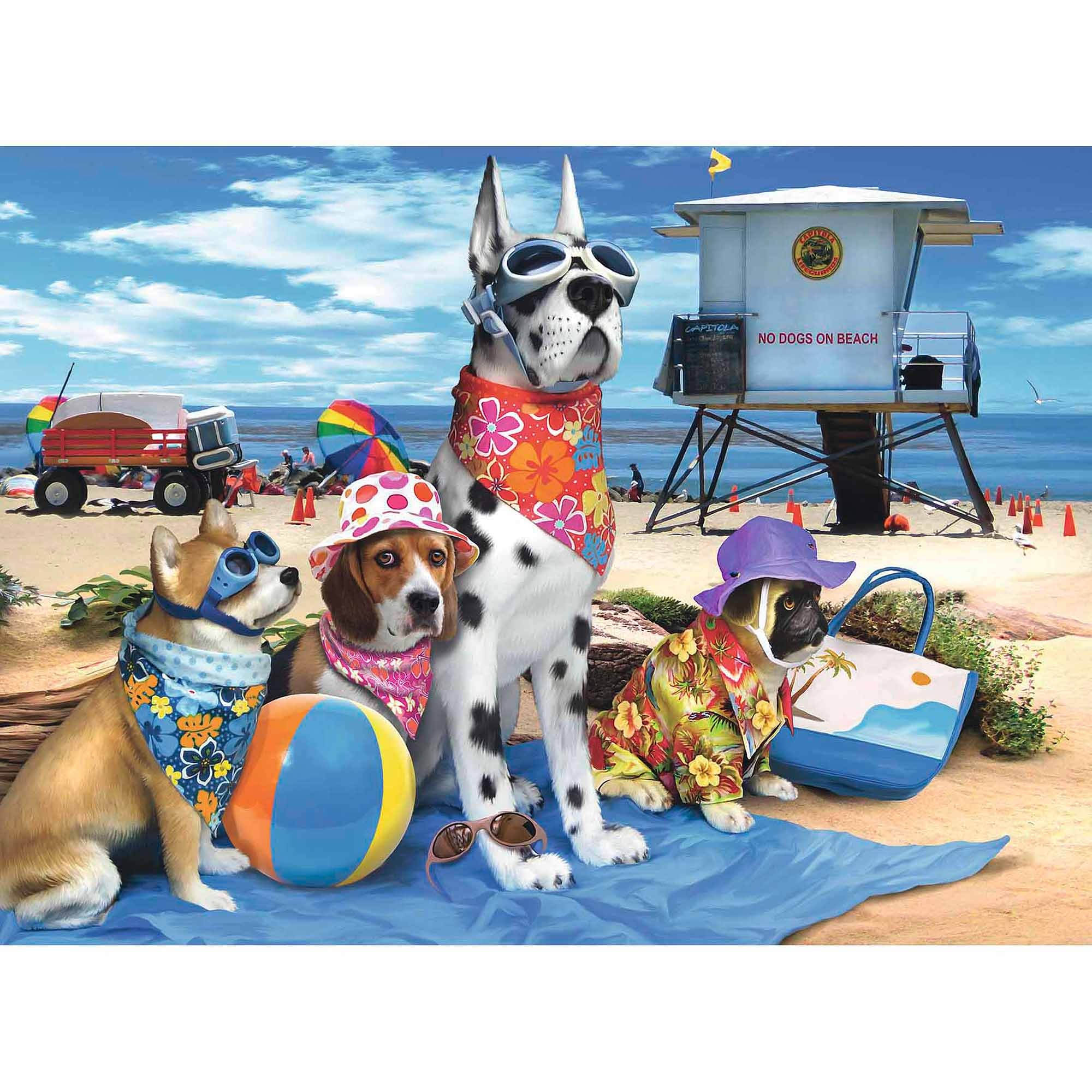 No Dogs on the Beach Puzzle, 100 Pieces