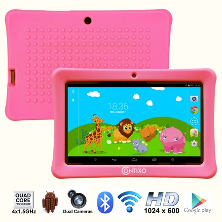 "Contixo (LA703-KIDS-1 Pink) 7"" Kids Tablet K1 