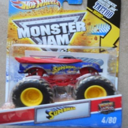 Superman (Mud Trucks) - Hot Wheels Monster Jam 2011 Tattoo Series #4/80 1:64 Scale (Small Version)
