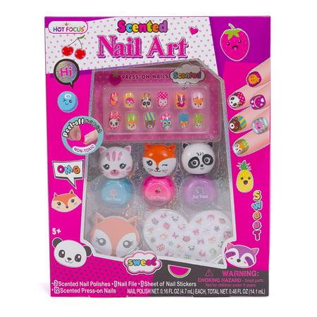 Hot Focus Scented Nail Art Kit Critter Girls Non Toxic Nail Polish