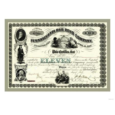 Pennsylvania Railroad Company, c.1896 Print Wall (Pennsylvania Railroad Company)