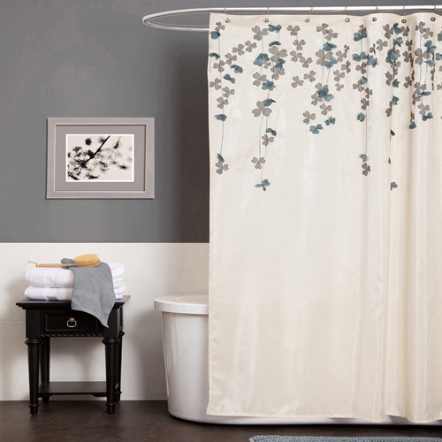Flower Drops Shower Curtain by Triangle Home Fashions