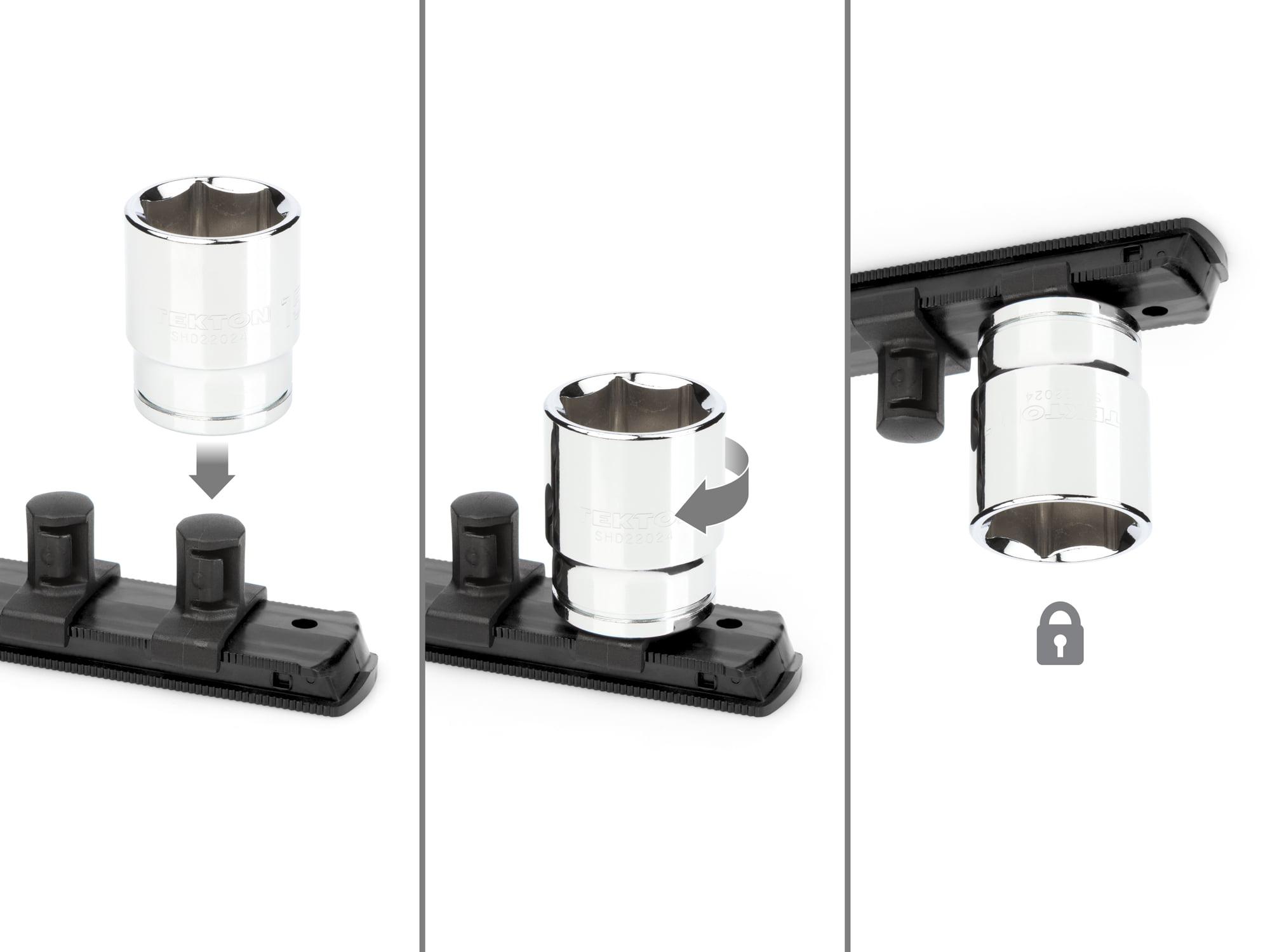 3//8-1 in. 11-Piece TEKTON 1//2 Inch Drive 6-Point Socket Set | SHD92101