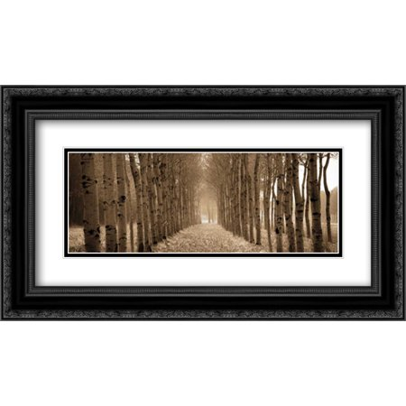The Shimmering Forest 2x Matted 24x14 Black Ornate Framed Art Print by Ross, Heather