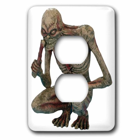 3dRose Halloween Gory Squatting Zombie - 2 Plug Outlet Cover (lsp_131220_6)](Gory Halloween Treats)