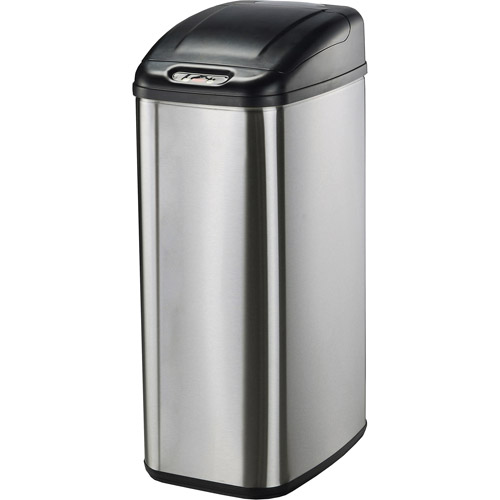 Exceptional Hefty Step On 13 Gallon Trash Can, Black   Walmart.com