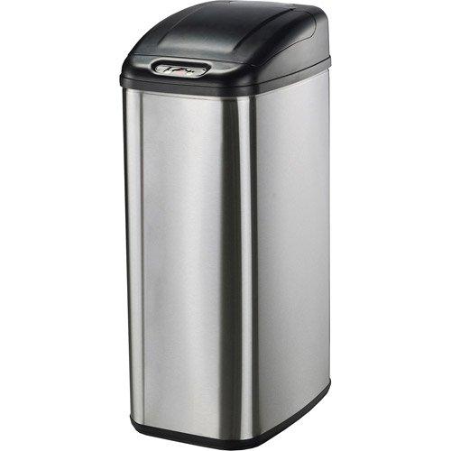 Perfect Nine Stars Motion Sensor Slim Touchless 13.2 Gallon Trash Can