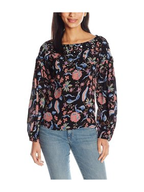 1d7bdc16fa5a0 Product Image GUESS Womens Mirrored Knit Blouse