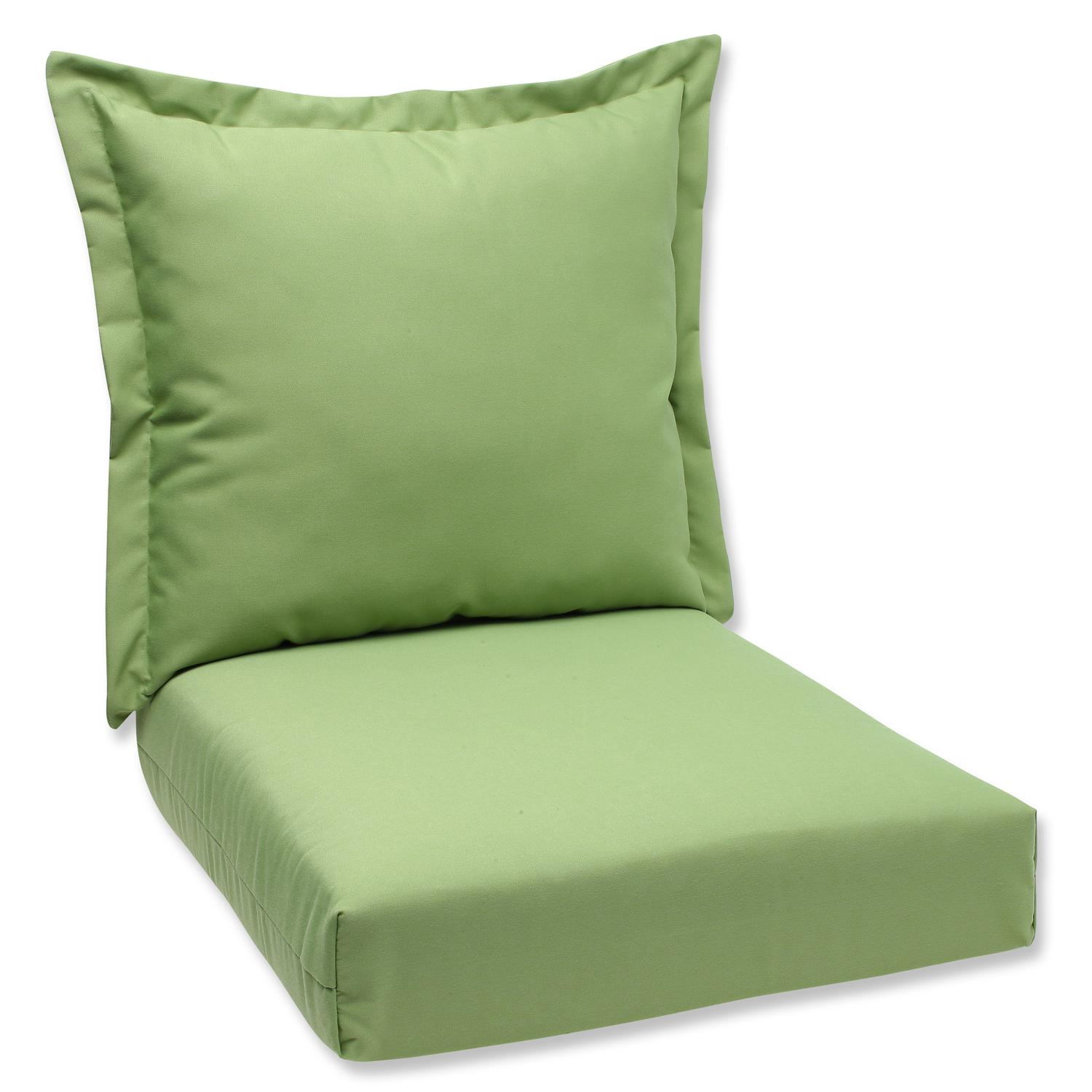 """44"""" Sunbrella Green Outdoor Patio Deep Seating Cushion and Back Pillow by CC Outdoor Living"""