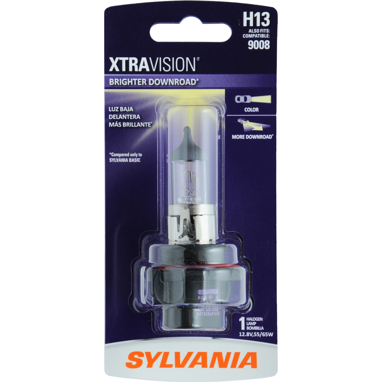 SYLVANIA H13 XtraVision Halogen Headlight Bulb, Pack of 1