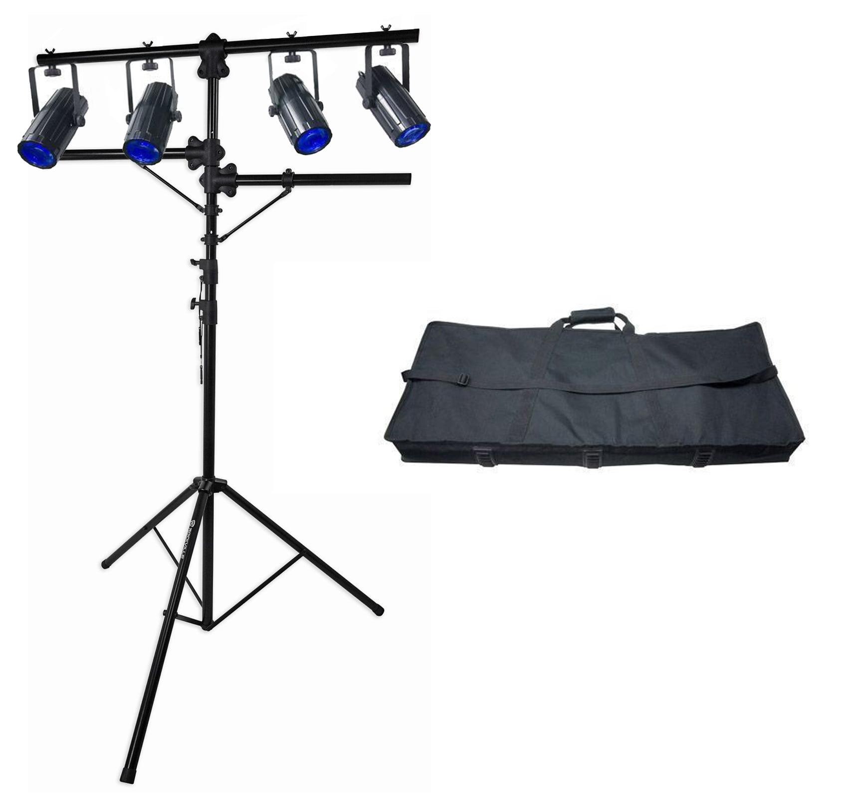 Chauvet DJ 4Play DMX-512 LED Light Beam FX System, DMX Moonflower Bar+Case+Stand