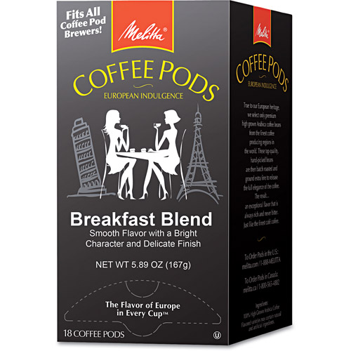 Melitta Breakfast Blend Coffee Pods, 18 count