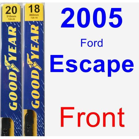 2005 Ford Escape Wiper Blade Set/Kit (Front) (2 Blades) - (2005 Ford Escape Rear Wiper Blade Size)