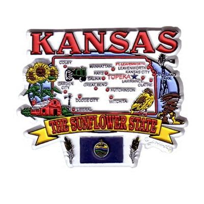 DDI Kansas Magnet 2d State Map (pack Of 72)
