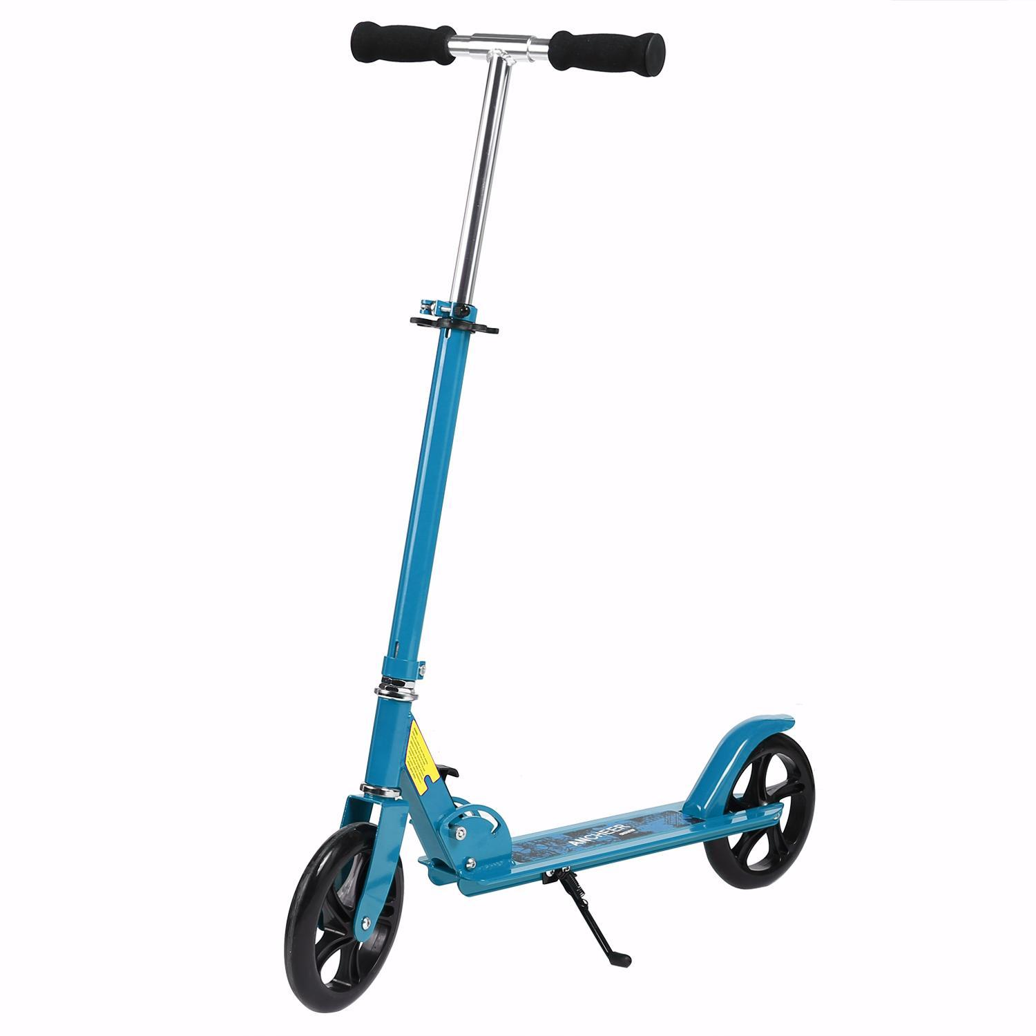 2-Wheels Adult Folding Scooter Aluminium Alloy Kick Scooter Height Adjustable by