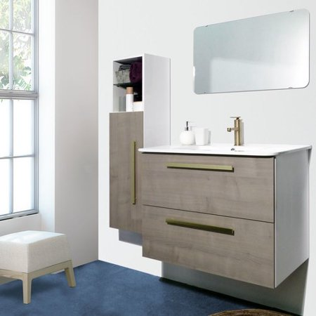 Wrought Studio Auten Modern 32 Wall Mounted Single Bathroom Vanity
