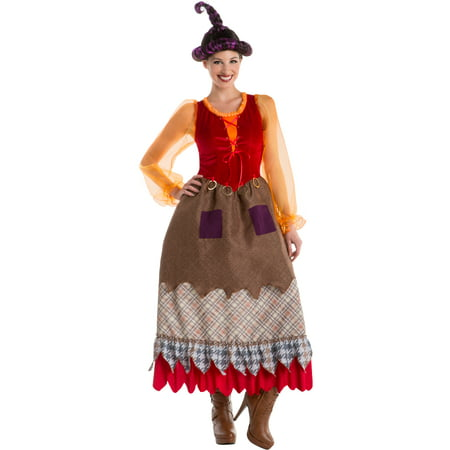 Costume With Red Dress (Women's Salem Sisters Witch Dress Goofy)