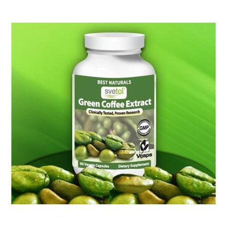 SVETOL ® Green Coffee Bean Extract, 400mg, 90 Vegetarian Capsules (400 mg Svetol ® per Capsule - The Svetol ® Standard E