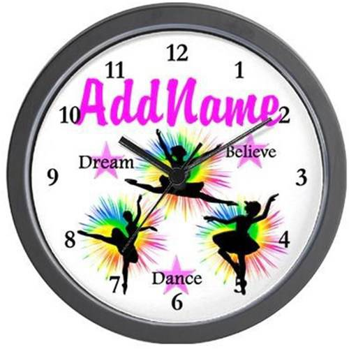 Cafepress Personalized Dancer Dreams Wall Clock