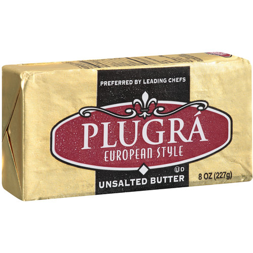 Plugra European Style Unsalted Butter, 8 oz
