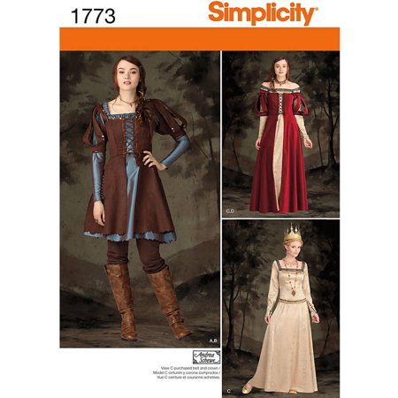 Simplicity Misses' Size 6-14 Costume Pattern, 1 Each