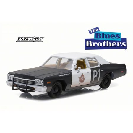 - 1974 Dodge Monaco Bluesmobile, The Blues Brothers - Greenlight 84011 - 1/24 Scale Diecast Model Toy Car