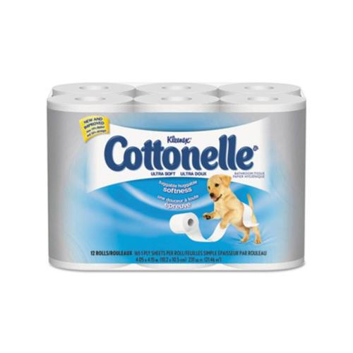 Kleenex Cottonelle Ultra Soft Bath Tissue, 1-ply KCC12456