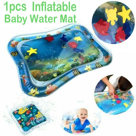 Inflatable Tummy Time Water Play Mat, Leakproof Water Filled Baby Playmat for Children and Infant, Fun Activity Play Center Your Baby's Stimulation Growth Tummy Time Activity Mat