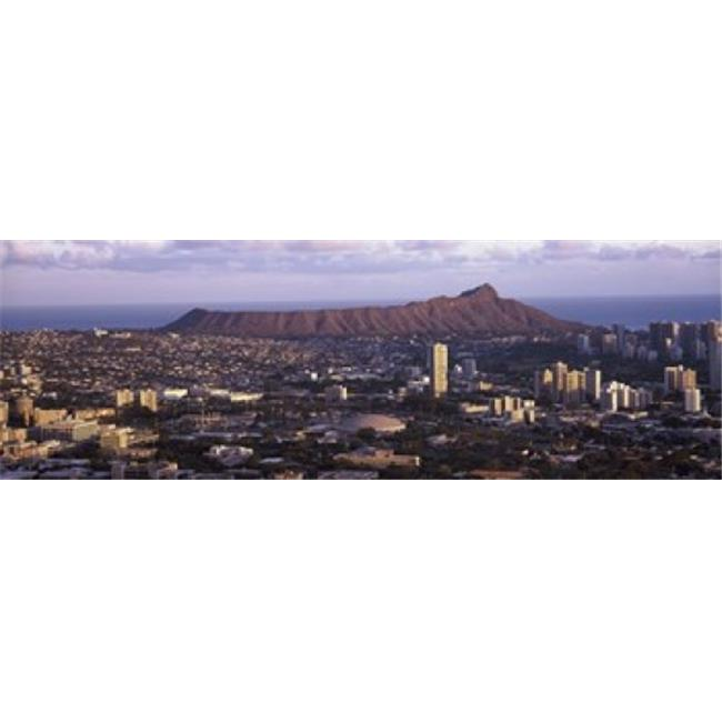Panoramic Images PPI132062L High angle view of a city  Honolulu  Oahu  Honolulu County  Hawaii  USA 2010 Poster Print by Panoramic Images - 36 x 12 - image 1 of 1