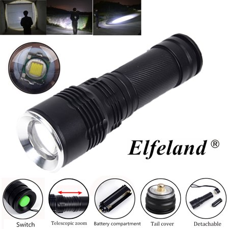 - 2-Pack 1500LM T6 LED 5-Mode Zoomable Tactical Flashlight Torch Focus Lamp For Camping Fishing