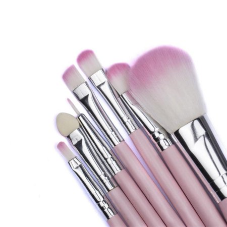Contouring Eye System - 7pcs Makeup Brushes Brush Set Kit Professional Cosmetic Set Powder Foundation Eyeshadow Eyeliner Blush Contouring Blending Brush Set with Pink Storage Case Bag