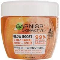 Garnier SkinActive Glow Boost 2-in-1 Facial Mask and Scrub, 6.75 fl. oz.