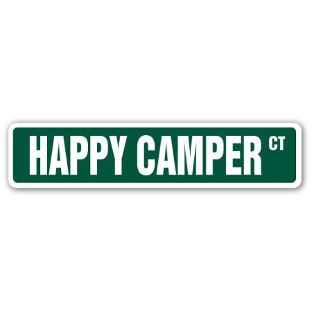 HAPPY CAMPER Street Sign camp happiness fun time | Indoor/Outdoor |  24